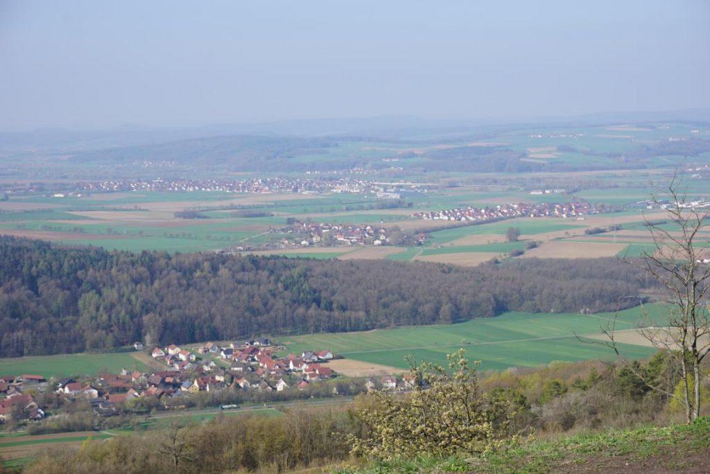 Ausblick vom Staffelberg bei Bad Bad Staffelstein