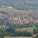 ausblick auf bischofsheim bei der Drei Tannen Alm