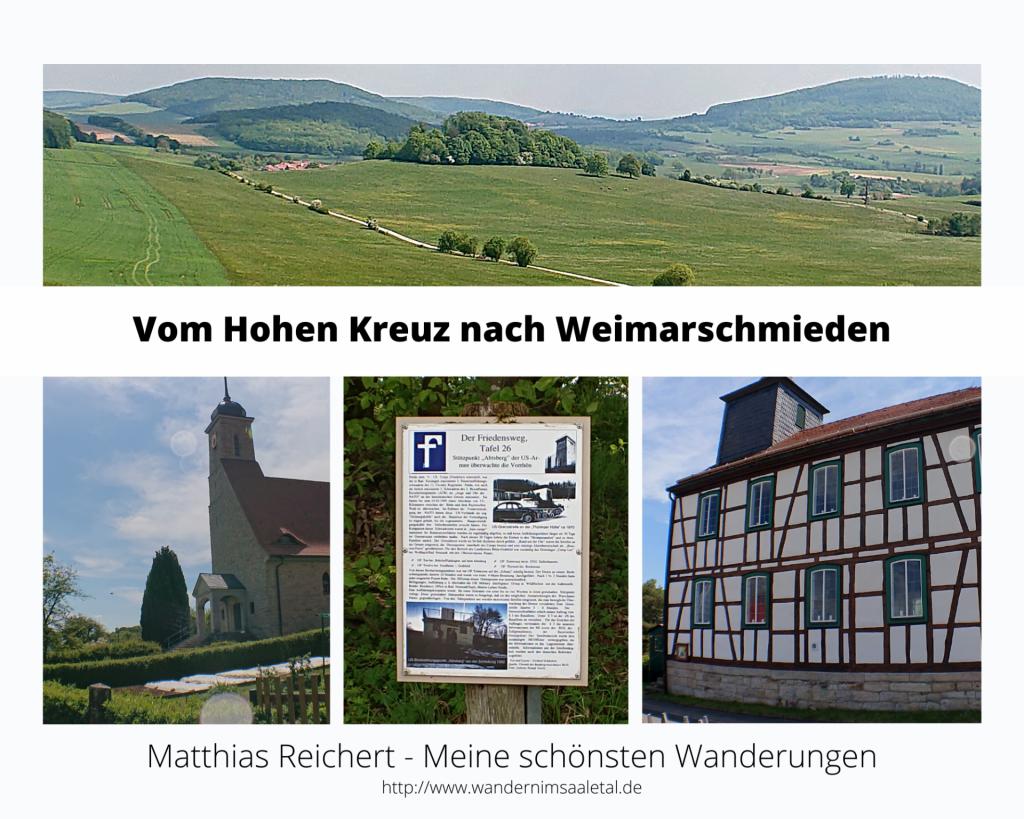 Wanderung vom Hohen Kreuz nach Weimarschmieden