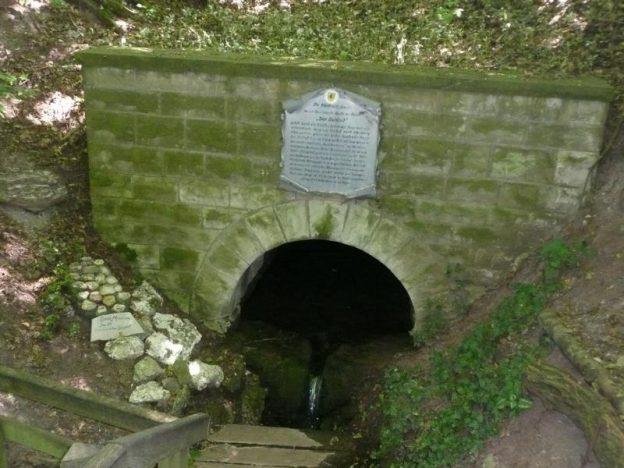 Von Aub zur Saale Quelle bei Obereßfeld
