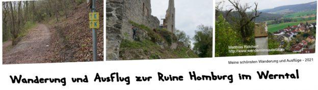 Wanderung von Karsbach Ruine Homburg