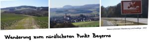 Wanderung zum nördlichst Punkt Bayerns